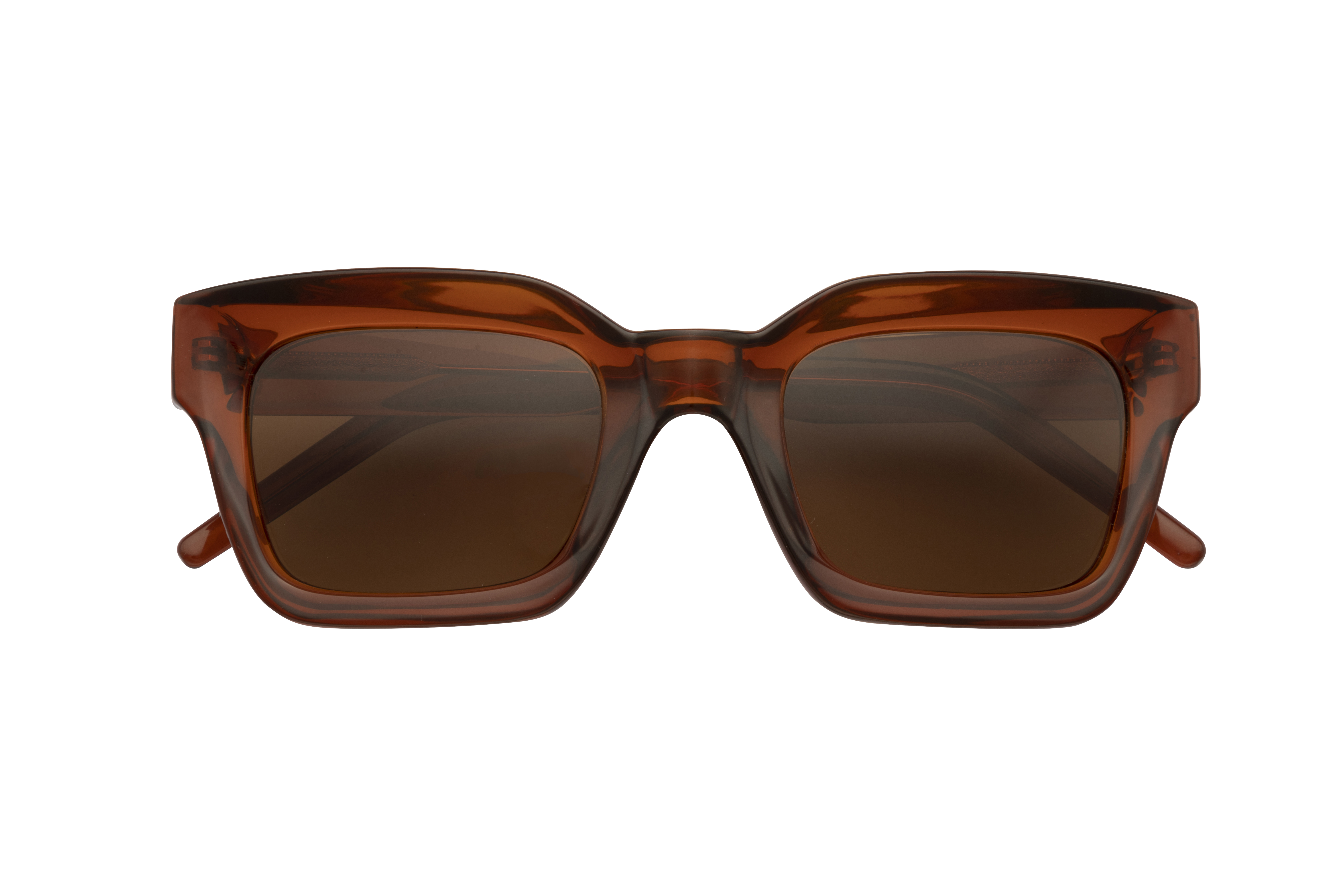 Wayfarer-Style Sonnenbrille in Braun
