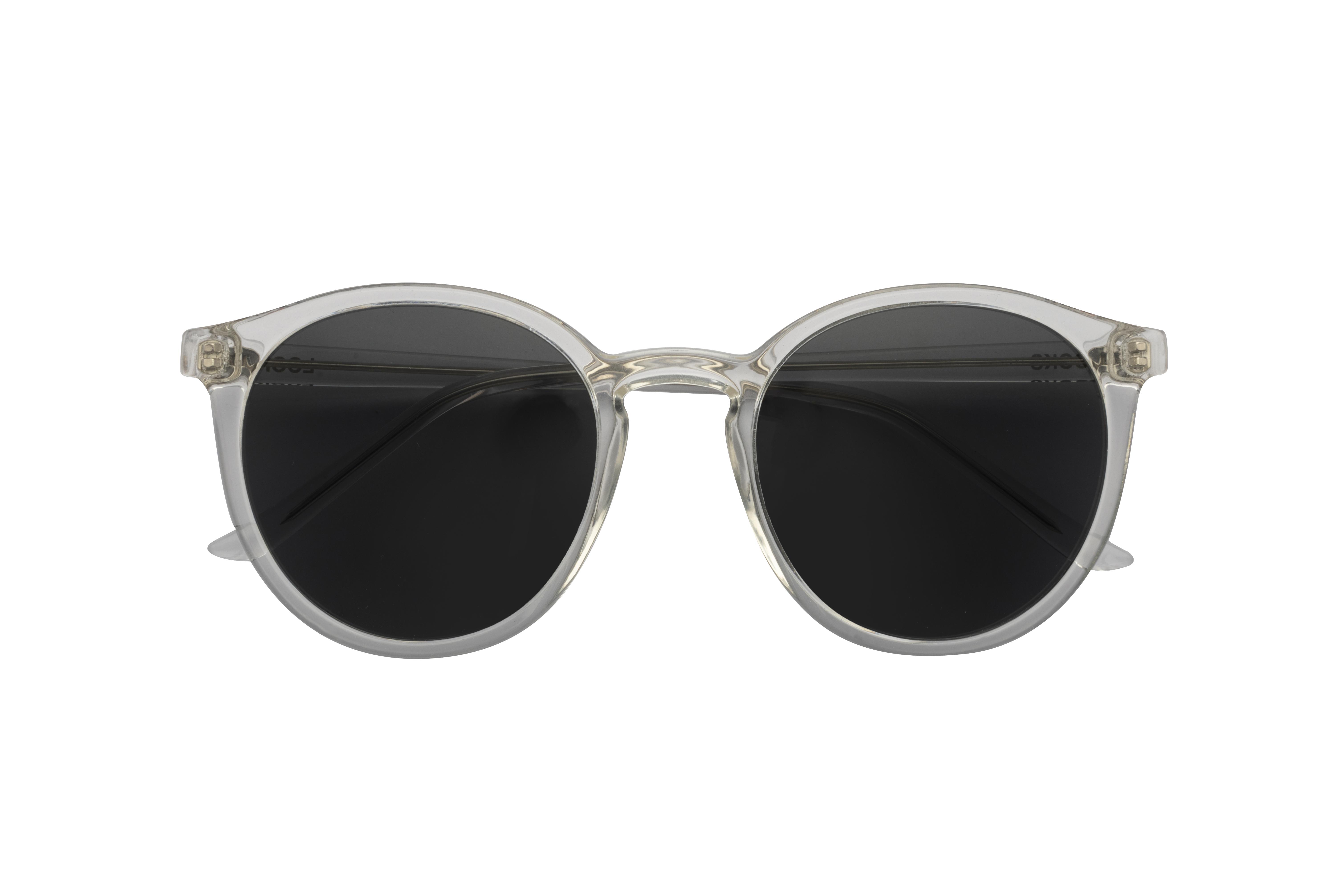 Transparente Sonnenbrille im Notched Bridge Style